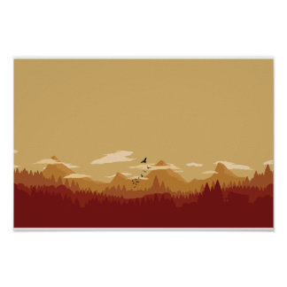 Red Mountains Poster