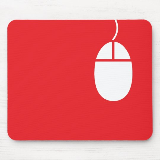 red mouse icon mousepad