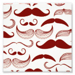 Red Moustache Pattern