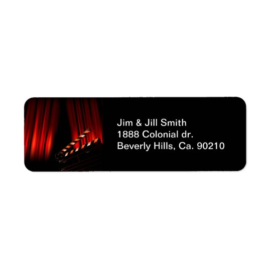 Red Movie Curtain Clapboard Director