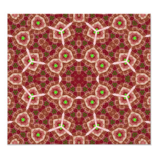 Red multicolored abstract pattern photo print