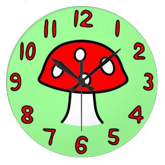 Red Mushroom Clock