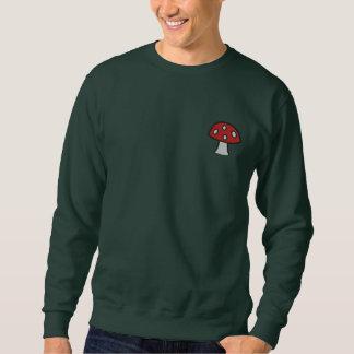 Red Mushroom Embroidered Sweatshirt
