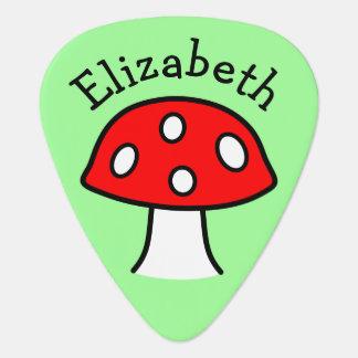Red Mushroom Guitar Pick
