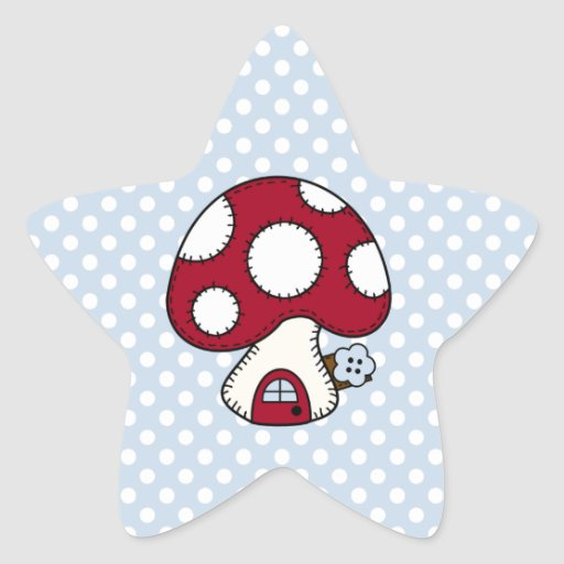 Red Mushroom House Fairy Gnome Home Stickers