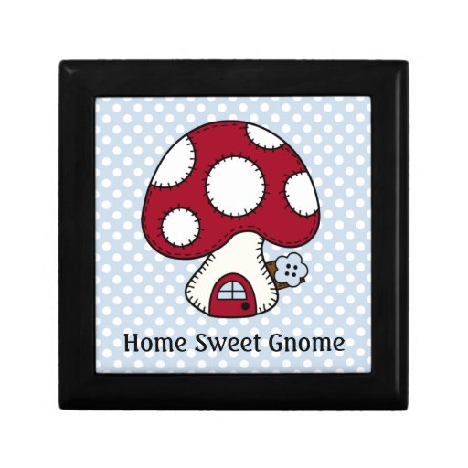 Red Mushroom House Fairy Home Home Sweet Gnome Gift Box