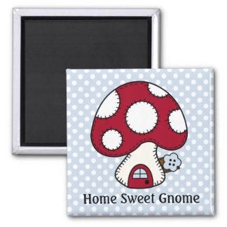 Red Mushroom House Fairy Home Home Sweet Gnome Refrigerator Magnet