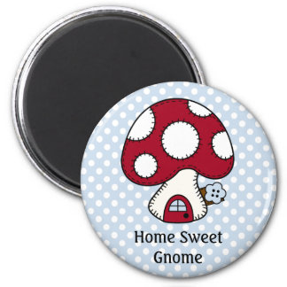 Red Mushroom House Fairy Home Home Sweet Gnome Magnet