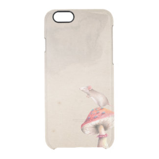 Red mushroom mouse clear iPhone 6/6S case