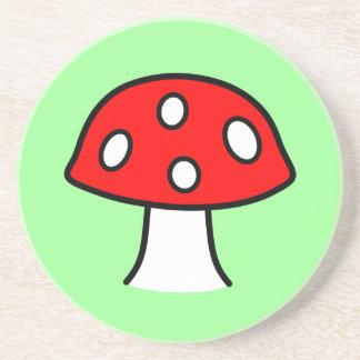 Red Mushroom Sandstone Coaster