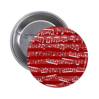 Red music notes button