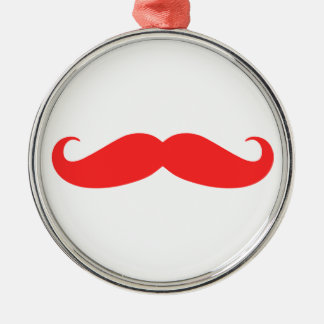 Red Mustache Christmas Ornament