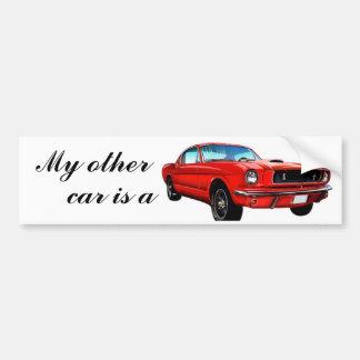 Red Mustang Bumber Sticker Car Bumper Sticker