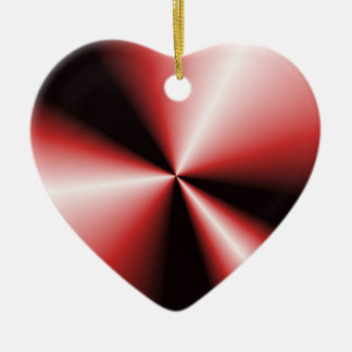 Red 'N Black Contrasting Points 'N Cones Ceramic Heart Decoration