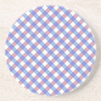 Red n Blue Gingham Pattern Coaster