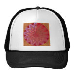 RED n Gold MAGIC Squares Checks Jewels Sparkles Mesh Hats