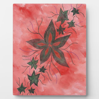 Red n Green floral Photo Plaques