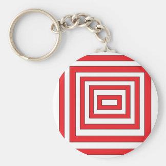 Red n white cubes Art key chain