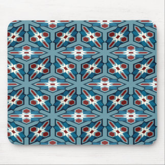 Red 'n' White 'n' Blue Patterned Mousepad
