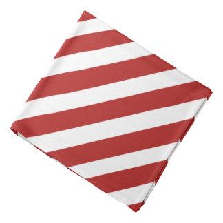 Red 'n White Pirate Stripes Bandana