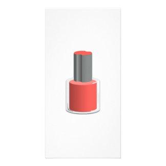 Red Nail Polish Custom Photo Card