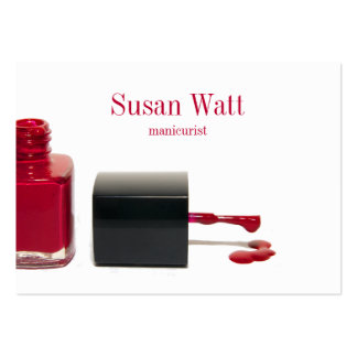 Red Nail Technician Business Card