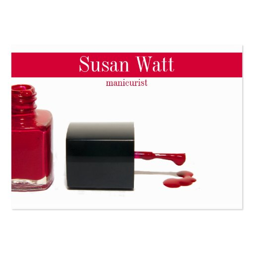Create your own nail technician business cards page5 red nail technician business card reheart Gallery
