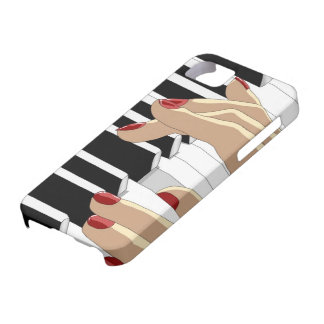 Red Nails Piano iPhone 5 Case