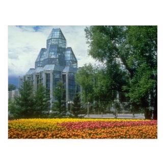 Red National Art Gallery, Ottawa, Canada flowers Postcard