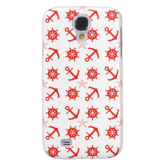 Red nautical pattern galaxy s4 case