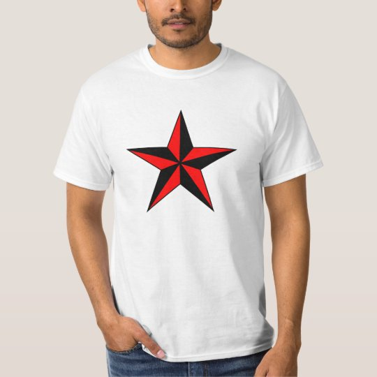 Red Nautical Star Custom Shirts