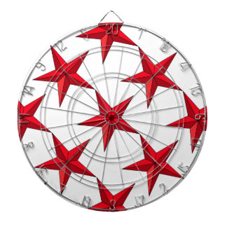 Red Nautical Star Dartboard