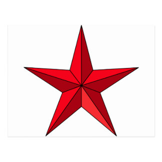 Red Nautical Star Postcard