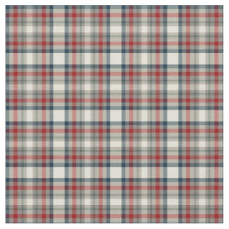 Red, Navy Blue, and Grey Plaid Fabric