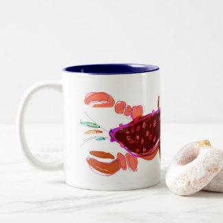 Red & Navy Lobster & Minnows 11oz Mug