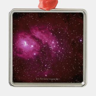 Red Nebula Christmas Ornament