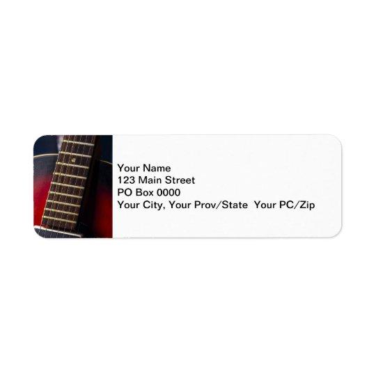 Red Neck HollowBody Guitar Pick-up Return Address Label