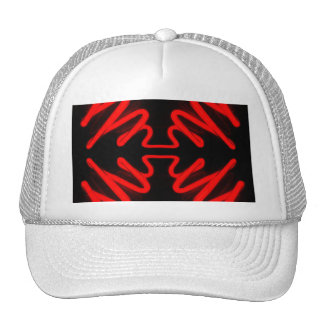 Red Neon by CricketDiane Mesh Hats