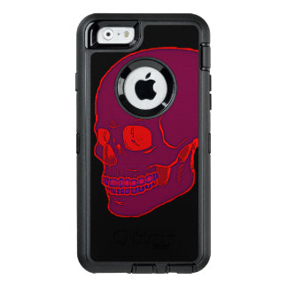 Red neon Skull bold! OtterBox iPhone 6/6s Case