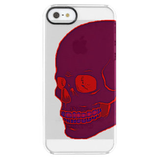 Red neon Skull clear! Clear iPhone SE/5/5s Case