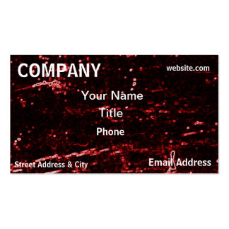 Red Neon Tech Science Futuristic Business Card