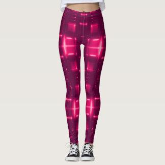 Red Neon Techno Style Leggings