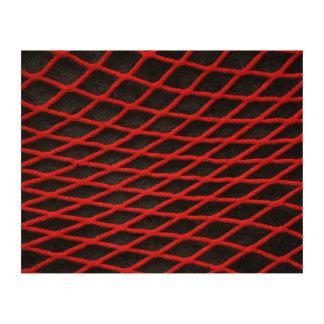 Red net pattern cork paper print