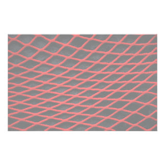 Red net pattern stationery design