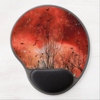 Red Night Stars Gel Mouse Mat