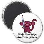 Red Ninja Monkey with Sword Magnet