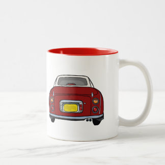Red Nissan Figaro custom car Mug