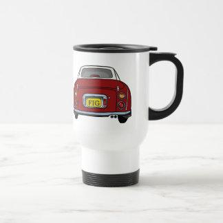 Red Nissan Figaro Customisable Travel Mug