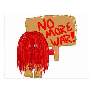 Red no more war postcard