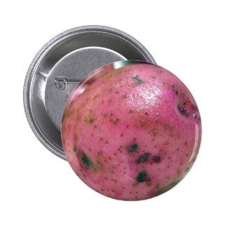 Red Norland potato 6 Cm Round Badge